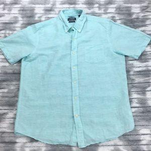 Chaps Linen blend shirt - Desert Turquoise